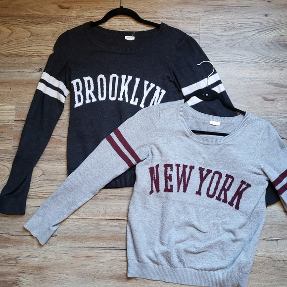 ❄ WINTER SALE: New York&Brooklyn Varsity Crewnecks